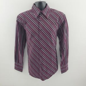 Ben Sherman dress shirt striped L L12